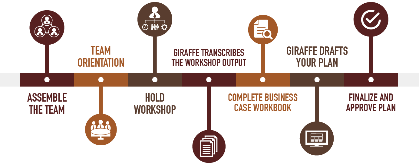 Developing Strategy for Business, The Giraffe Strategy Process is Outlined in this Infographic - GiraffeStrategy.com
